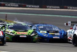 Kaza: #16 GRT Grasser-Racing-Team, Lamborghini Huracán GT3: Luca Stolz,  Mirko Bortolotti und #66 Attempto Racing Team, Lamborghini Huracán GT3: Emil Lindholm, Andre Gies