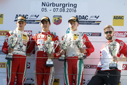 Podium: Sieger Thomas Preining, Lechner Racing ; 2. Mick Schumacher, Prema Powerteam; Juri Vips, Prema Powerteam