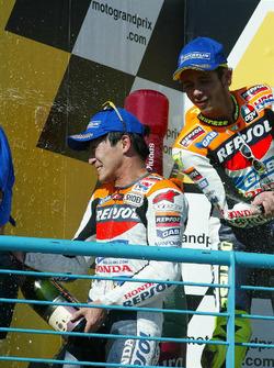 Podyum: 1. Tohru Ukawa, 2. Valentino Rossi