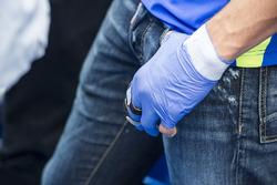 Aleix Espargaro, Team Suzuki Ecstar MotoGP, damaged hand