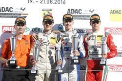 Podium: Sieger Mike David Ortmann, Mücke Motorsport; 2. Lirim Zendeli, Mücke Motorsport; 3. Mick Schumacher, Prema Powerteam  und Ralf Druckenmüller