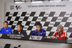 Ken Kawauchi, Team Suzuki MotoGP Technical Manager, Shuhei Nakamoto, vice-presidente Honda Racing Corporation, Kouichi Tsuji, General Manager Motorsports Development Division, Yamaha Motor, Gigi Dall'Igna, General Manager Ducati Team