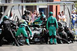 Ніко Росберг, Mercedes AMG F1 W07 Hybrid, піт-стоп