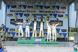 GTLM Podium: race winners Antonio Garcia, Jan Magnussen, Corvette Racing, second place Joey Hand, Dirk Müller, Ford Performance Chip Ganassi Racing, third place Earl Bamber, Frédéric Makowiecki, Porsche Team North America