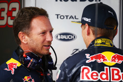 Christian Horner, Red Bull Racing, mit Max Verstappen, Red Bull Racing
