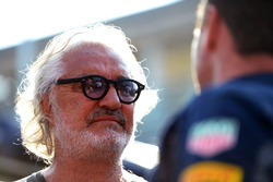 Flavio Briatore con Christian Horner, Red Bull Racing Team