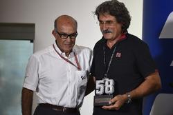 Carmelo Ezpeleta, CEO Dorna Sports, Paulo Simoncelli