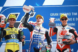 Podio: il secondo classificato Alex Rins, Paginas Amarillas HP 40, il vincitore della gara Lorenzo Baldassarri, Forward Racing, il terzo classificato Takaaki Nakagami, Honda Team Asia