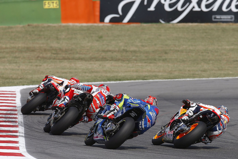Dani Pedrosa, Repsol Honda Team, Maverick Viñales, Team Suzuki Ecstar MotoGP, Andrea Dovizioso, Ducati Team, Marc Marquez, Repsol Honda Team