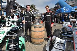 Simon Pagenaud, Team Penske, Chevrolet; Will Power, Team Penske, Chevrolet am Pier 39