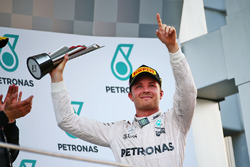 Nico Rosberg, Mercedes AMG F1 celebrates his third position on the podium