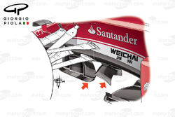 ferrari SF16-H turning vanes, Malaysian GP