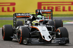 Sergio Perez, Sahara Force India F1 VJM09 y Nico Hulkenberg, Sahara Force India F1 VJM09