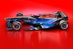 Desenhos dos carros da F1 em 2030