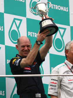 Podium: Adrian Newey, Red Bull Racing, Technical Operations Director