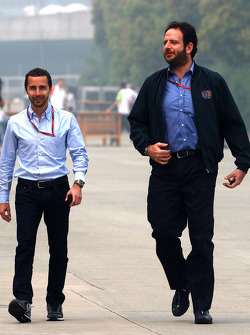 Nicola Todt, Manager of Felipe Massa and Matteo Bonciani, F1 Head of Communications