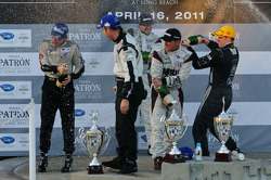 LMP podium: champagne celebration
