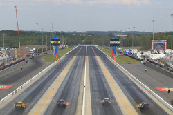 4 Wide Funny Car racing