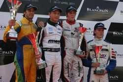 Felipe Nasr, Rupert Svendsen-Cook, William Buller, Bart Hylkema on the podium