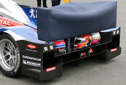 Rear wing of the #8 Peugeot Sport Total Peugeot 908