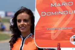 Grid girl of Mario Dominguez