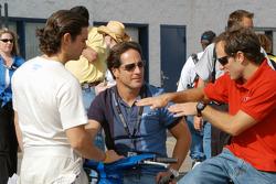 Rodolfo Lavin, Mario Dominguez and Cristiano Da Matta