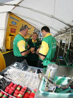 Team Australia Racing crew members at work