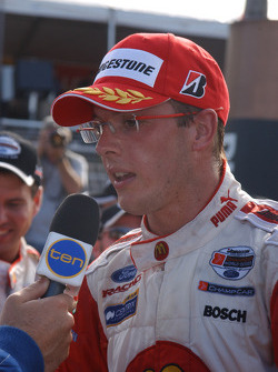 Interviews for race winner and Champ Car World Series 2005 champion Sébastien Bourdais