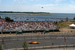 Fans watch qualifying action