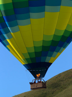Hot air balloon over Sears Point