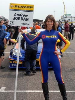 Andrew Jordan, Pirtek Racing Grid girl