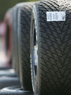 Grooved Bridgestone tires
