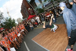John Street party: breakdancers at work