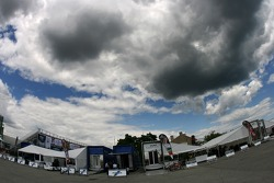 Menacing clouds over Toronto paddock