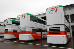 The trucks of Force India