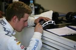 BMW Motorsport team member at work