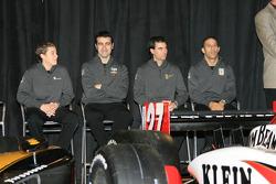 Andretti Green Racing's 2006 driver lineup: Marco Andretti, Dario Franchitti, Bryan Herta and Tony Kanaan