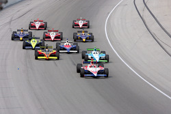 A.J. Foyt IV leads a group of cars