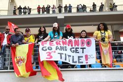 A banner in the crowd for Fernando Alonso, Scuderia Ferrari