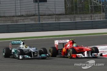 Nico Rosberg, Mercedes GP F1 Team and Felipe Massa, Scuderia Ferrari