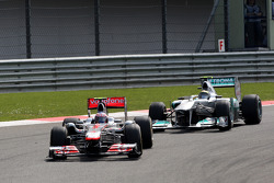 Jenson Button, McLaren Mercedes, MP4-26, Nico Rosberg, Mercedes GP F1 Team, MGP W02