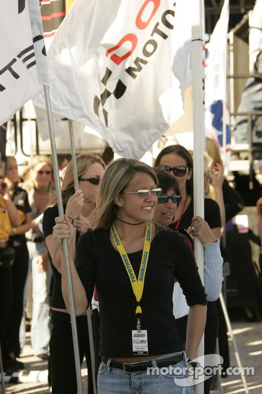 The lovely flag girls