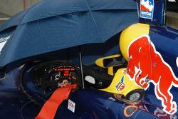 Umbrellas were needed on Friday