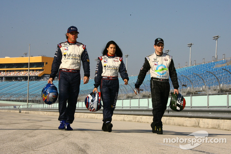 Buddy Rice, Danica Patrick y Paul Dana