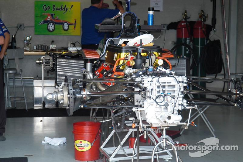 L'arrière d'une voiture Indy