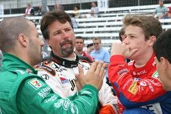 Tony Kanaan, Michael Andretti and Marco Andretti