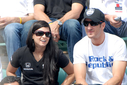 Danica Patrick and Tomas Scheckter