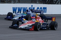 Danica Patrick and Dan Wheldon duke it out, like they did at Indy last year