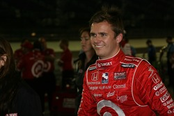 Pole winner Dan Wheldon celebrates