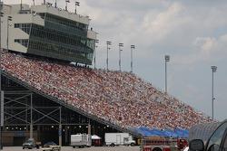 Nashville fans watch the race
